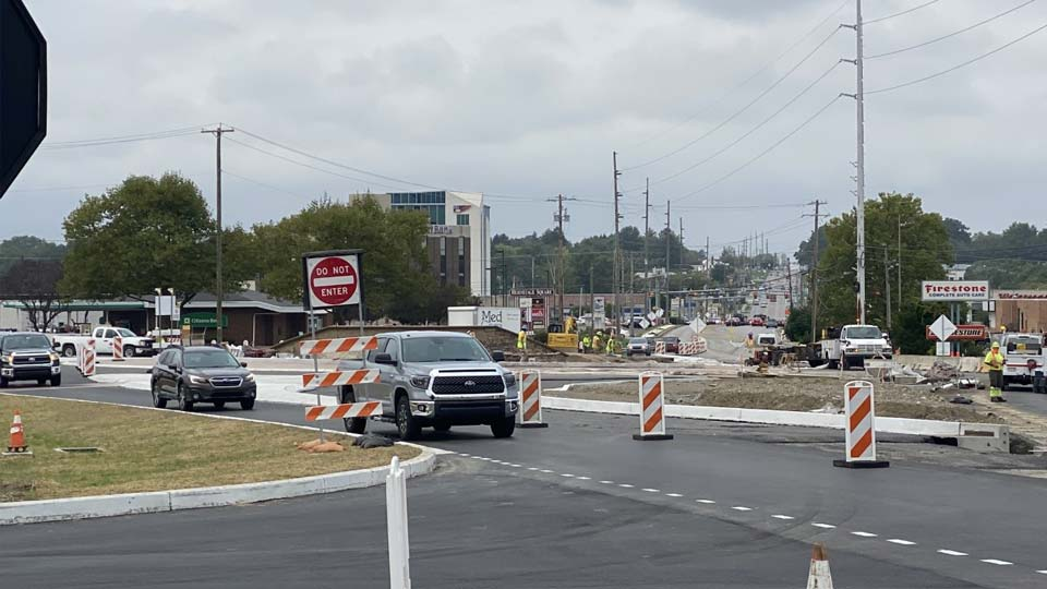 Phase 3 of 5 began today on the roundabout project in Hermitage at the intersection of East State Street and Route 62.