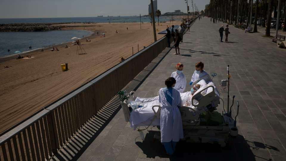 ICU patients beach