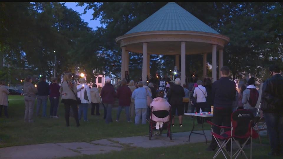 Justice Ruth Bader Ginsburg vigil in Warren