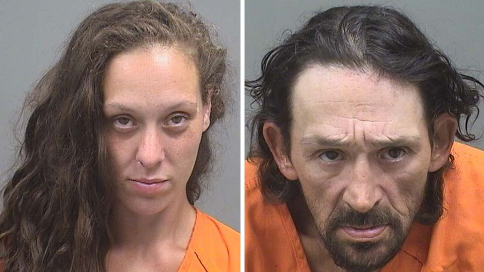 Rachel Clinton and Donald Salus, charged with breaking and entering in Youngstown.
