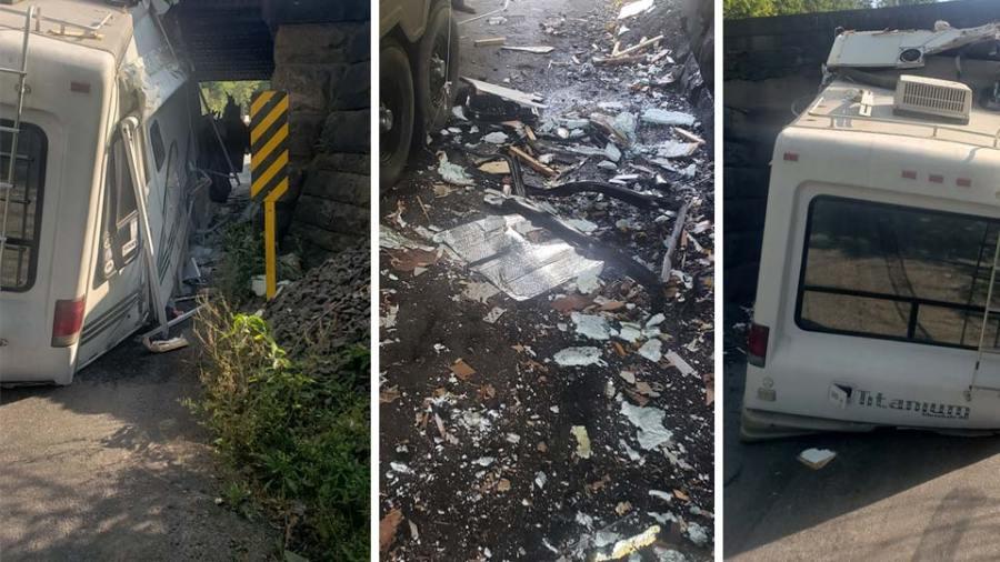 RV crash on Neeld Rd. in Unity Twp.