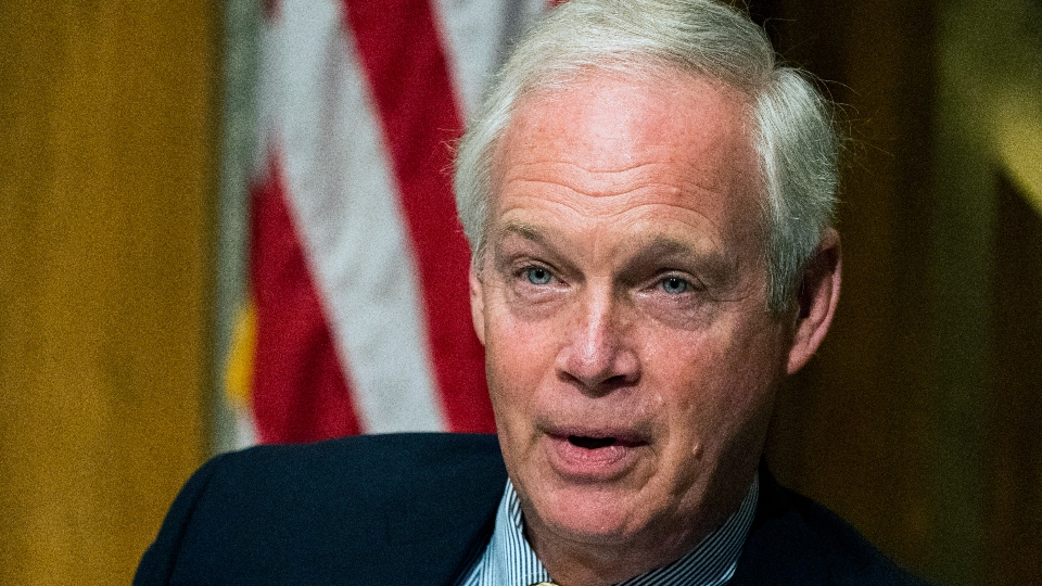 "Senate Homeland Security and Governmental Affairs Committee Chairman Sen. Ron Johnson, R-Wis., speaks during the committee's business meeting where it will consider new subpoenas in the ""Crossfire Hurricane""/Burisma investigation on Capitol Hill."