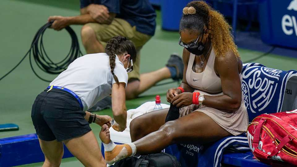 Serena Williams ankle injury