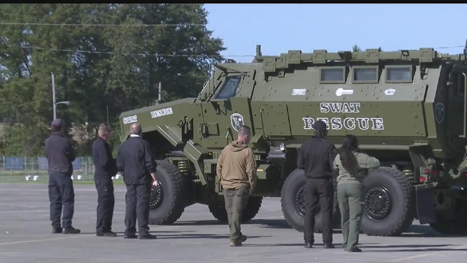SWAT rescue vehicle