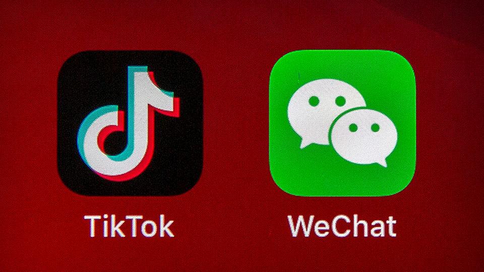 TikTok, WeChat logos