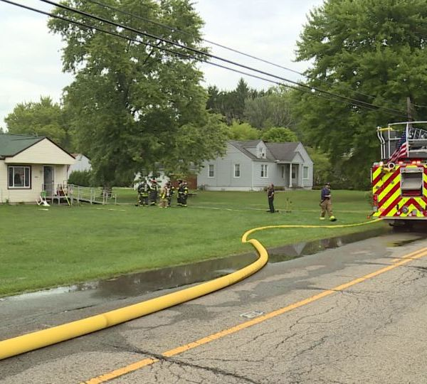 A house was damaged by fire Wednesday in Vienna Township.