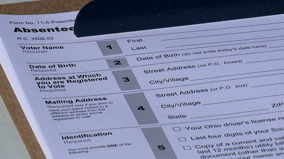 Voter registration event drive-thru in Youngstown