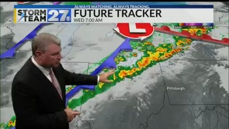 Showers with the chance for a storm to start your Thursday