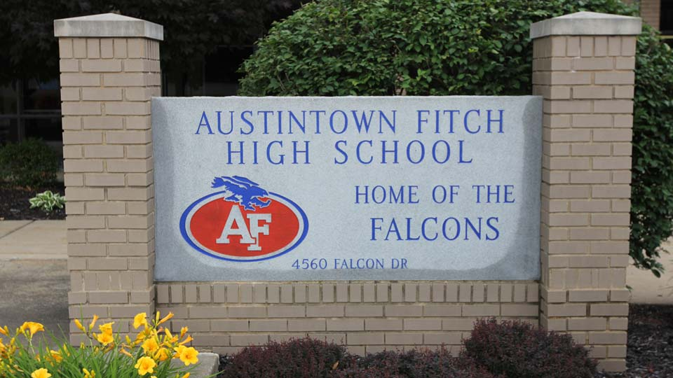 Austintown Fitch High School sign