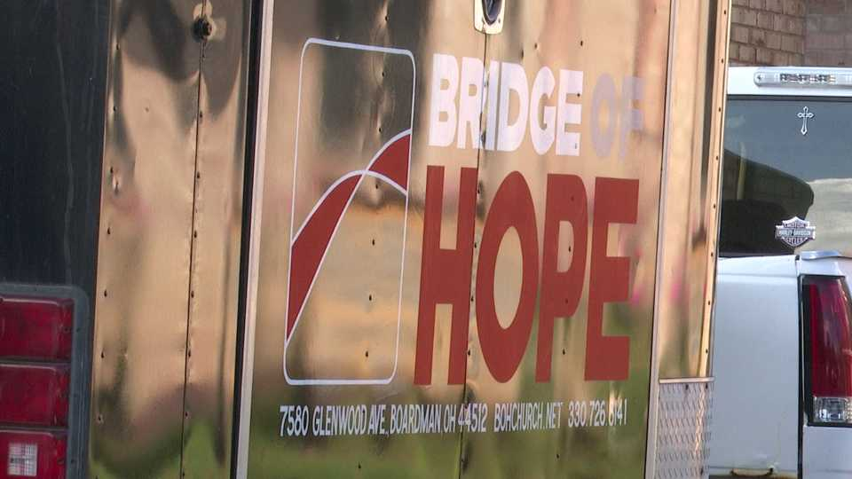 Boardman Bridge of Hope Church food giveaway