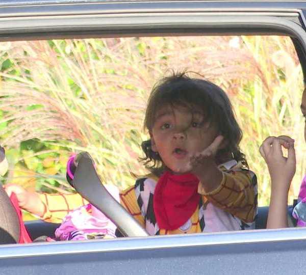 Boardman drive-thru trick or treat event celebrated Halloween early.