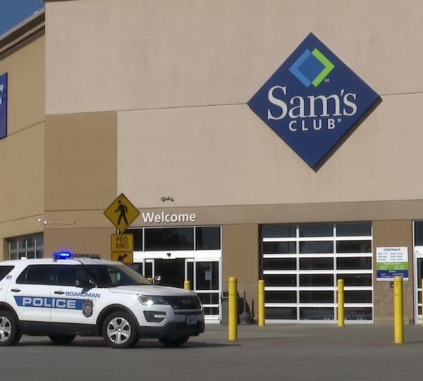 Police were called to the Sam's Club store in Boardman on Saturday morning.