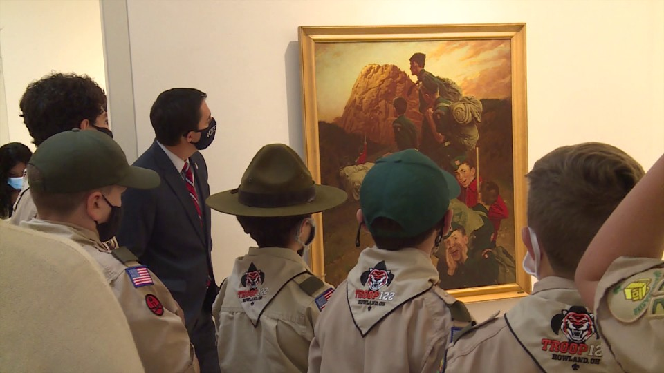 Boy Scout exhibit at Howland museum