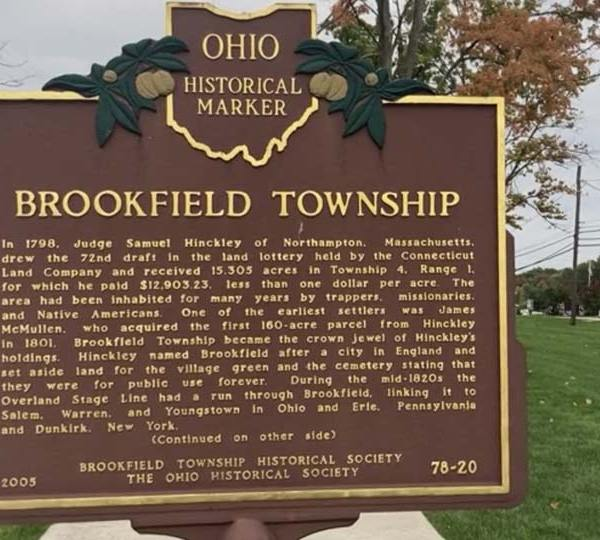 Lois Werner, former archivist for the Brookfield Historical Society said the township was officially founded in1799.