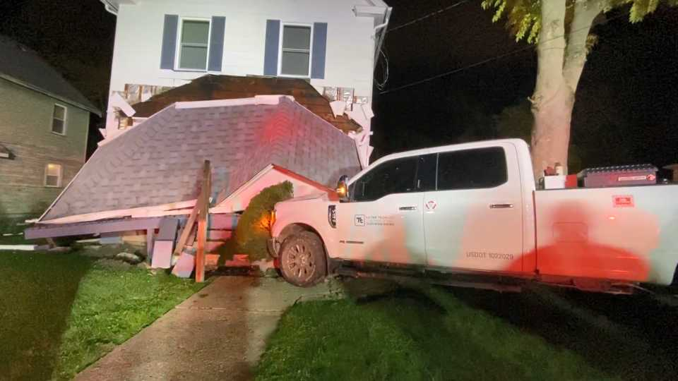 Car into Youngstown home