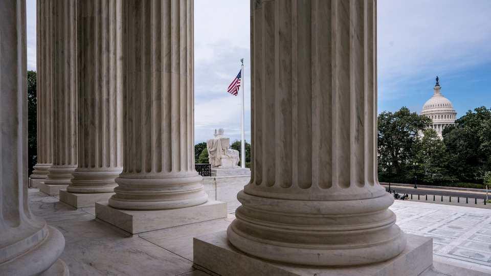 columns Supreme Court Capitol Hill