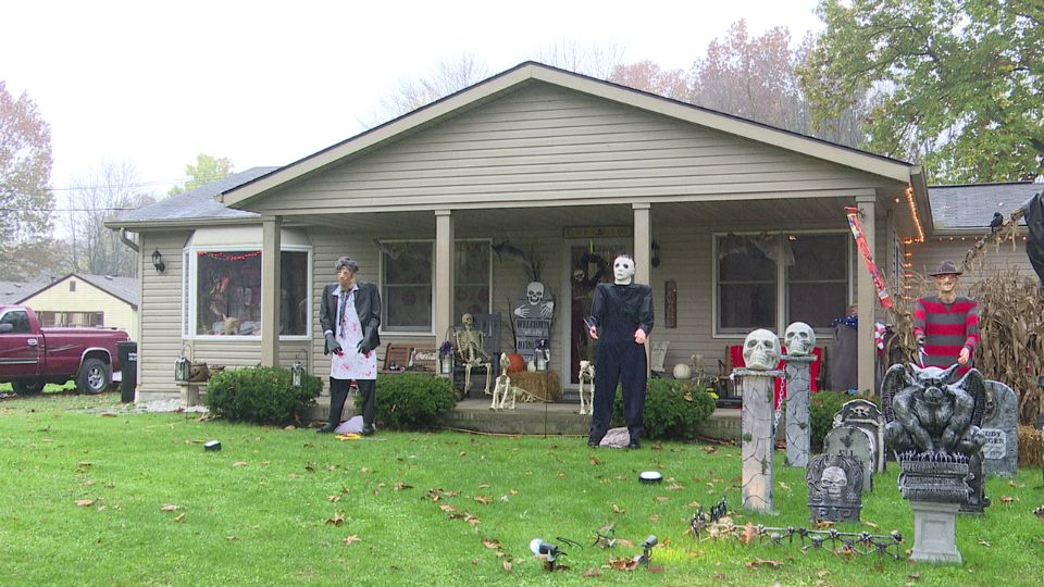 There's no skipping over the spooky season at a house in Craig Beach.