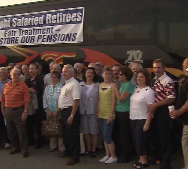 Delphi salaried retirees want pensions restored