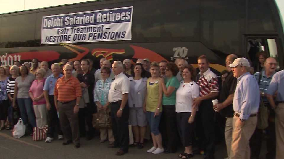Delphi salaried retirees want pensions restored