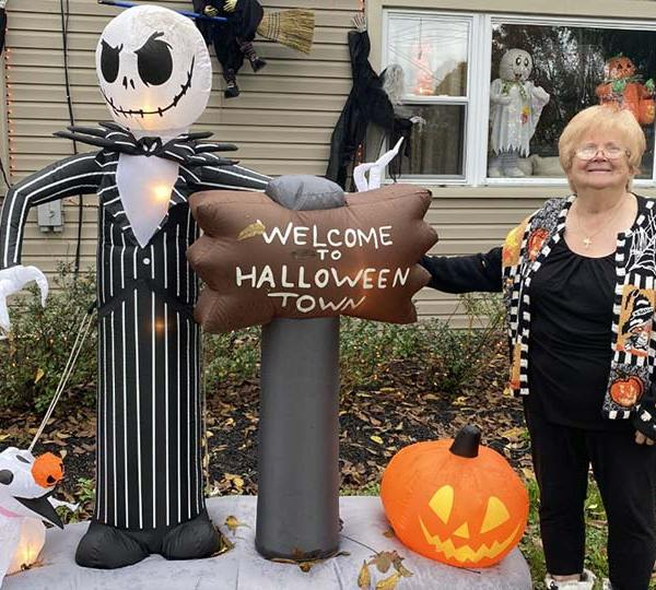 Shirley Gayan decorates her home inside and out including her garage for Halloween and Christmas for everyone to enjoy