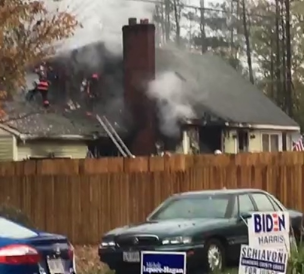 House fire on South Range Road in Springfield Township