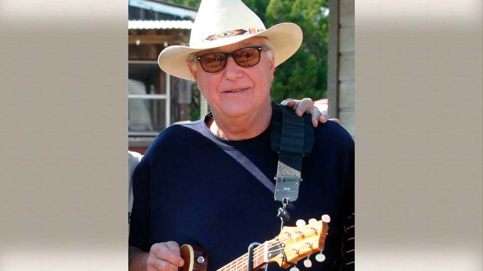 This Oct. 30, 2005 file photo shows Country singer Jerry Jeff Walker at a campaign fundraiser at Willie Nelson's ranch outside Austin, Texas.
