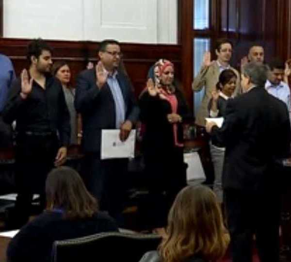 Some new citizens were welcomed into the American family Thursday in Youngstown.