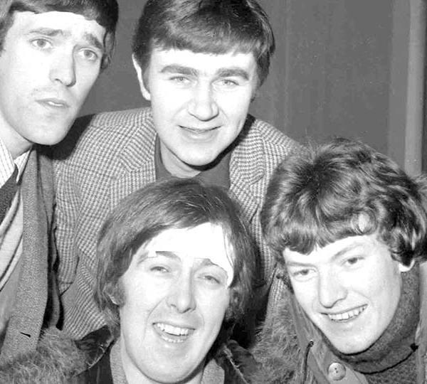 Spencer Davis Group, from top left: Muff Winwood, Pete York and Steve Winwood and Spencer Davis