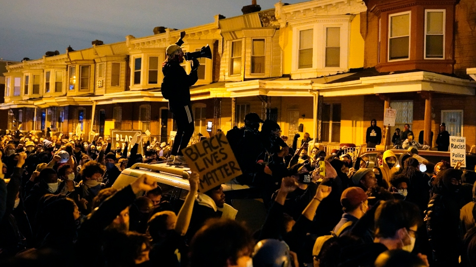 Protesters in Philadelphia after Walter Wallace police shooting