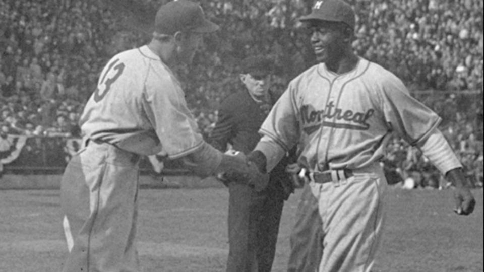 Jackie Robinson, George Shuba handshake