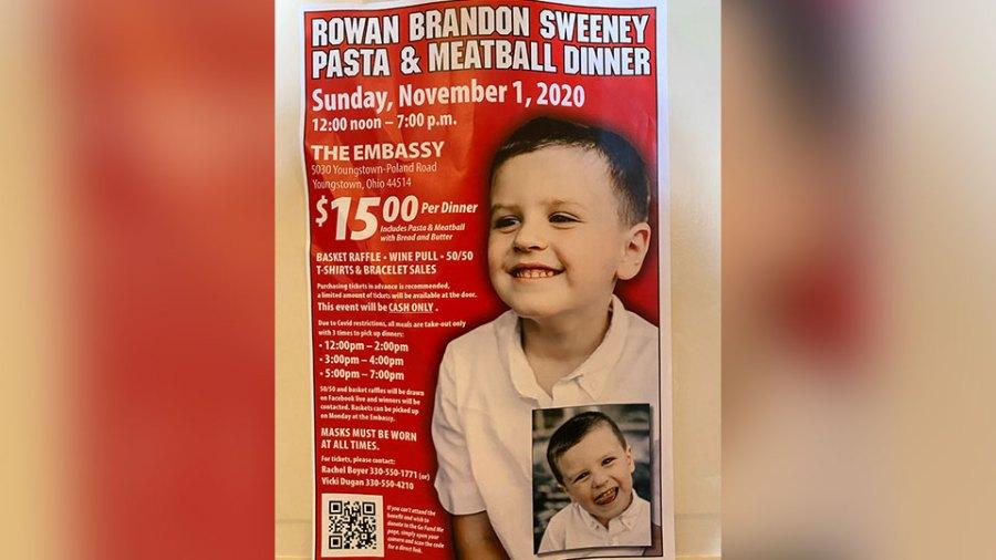 Rowan Sweeney benefit flyer