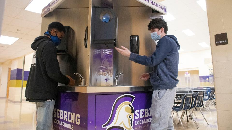 Sebring Schools handwashing station
