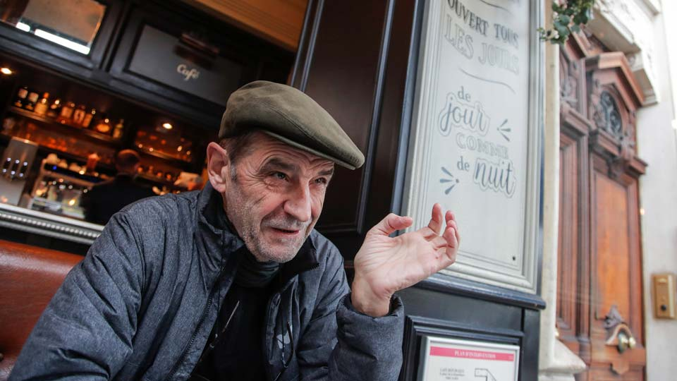 Josu Urrutikoetxea, a former leader of Basque separatist militant group ETA, speaks in Paris, Thursday, Oct. 15, 2020