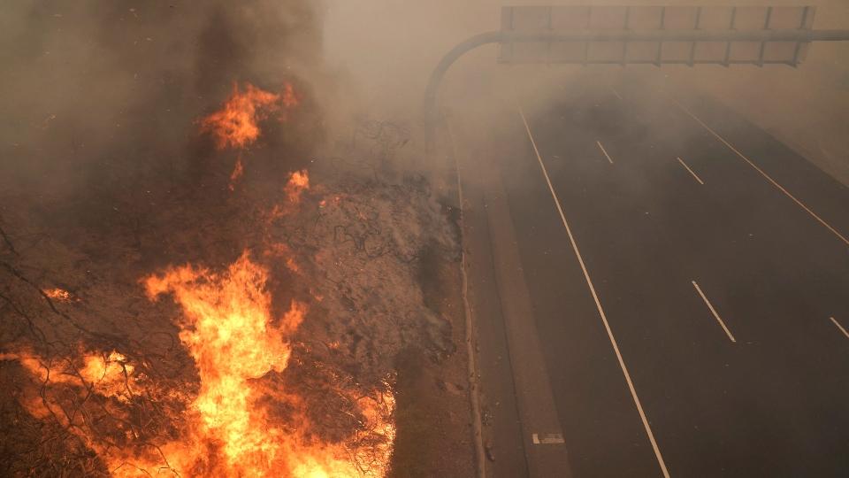 Silverado fire, California