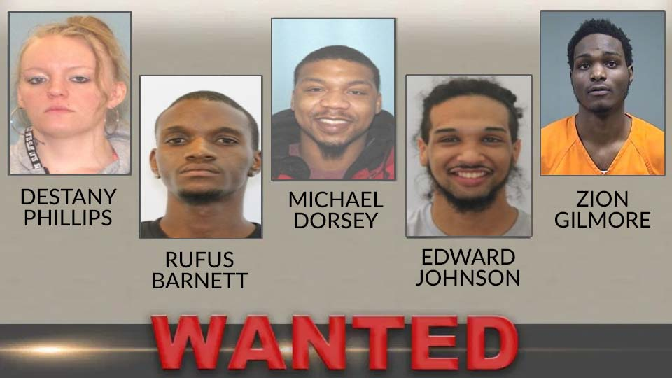 Top 5 wanted fugitives for Youngstown area