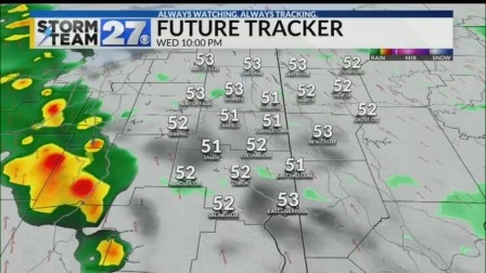 Tracking showers tonight - Looking into your mild Thanksgiving