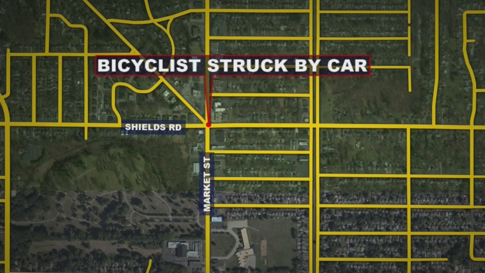 Bicyclist hit by car in Boardman