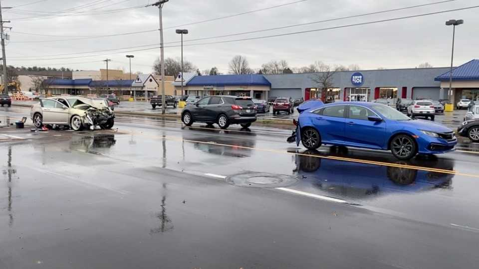 One person was taken to a hospital following a five-vehicle accident in the westbound lanes of U.S. 224 in Boardman by the Boardman Plaza.