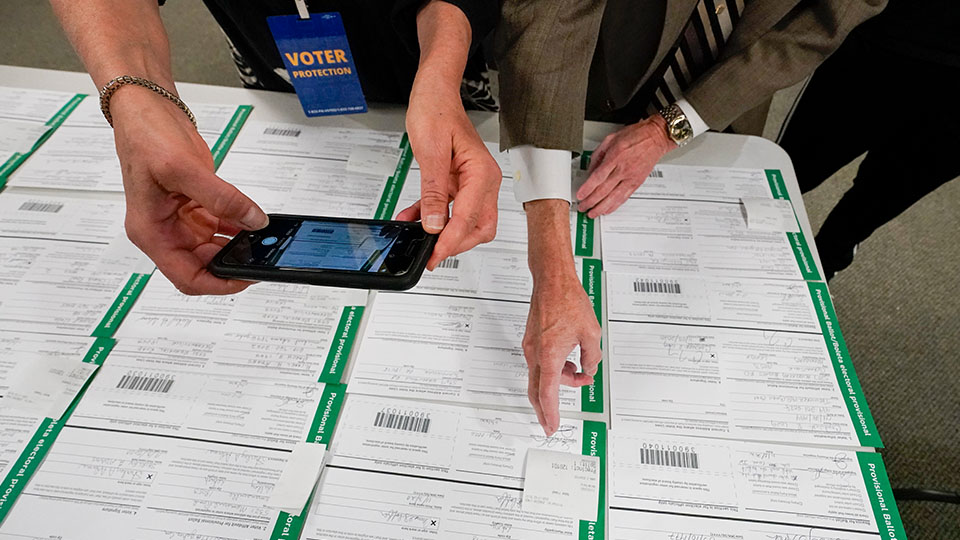 canvas observer photographs Lehigh County provisional ballots