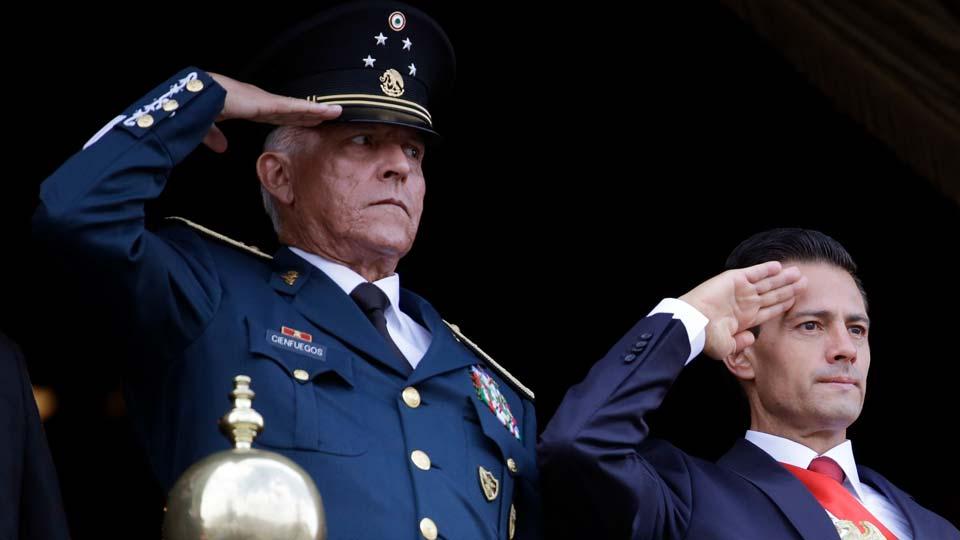 Defense Secretary Gen. Salvador Cienfuegos