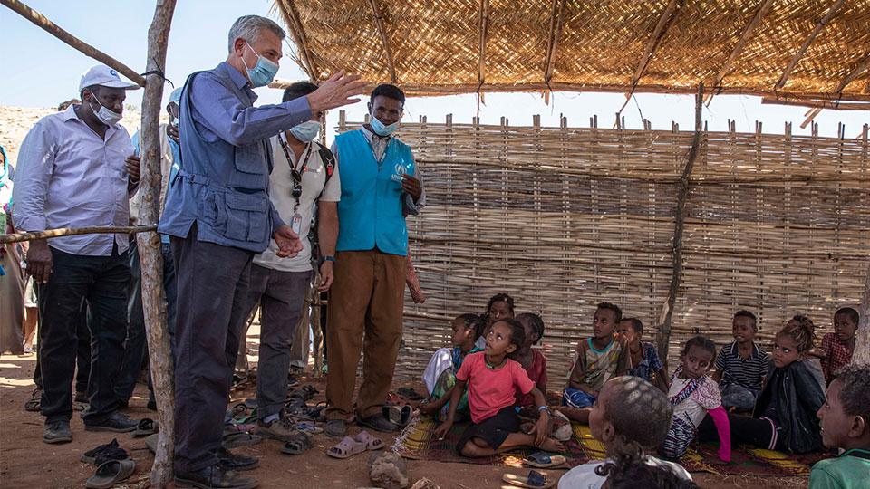 Filippo Grandi, U.N. High Commissioner for Refugees, visits Umm Rakouba refugee camp