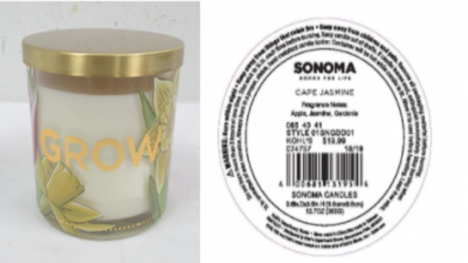 Kohl's has recalled more than half-a-million Sonoma Goods For Life branded three-wick candles due to fire and burn hazards, according to the U.S. Consumer Protection Safety Commission.