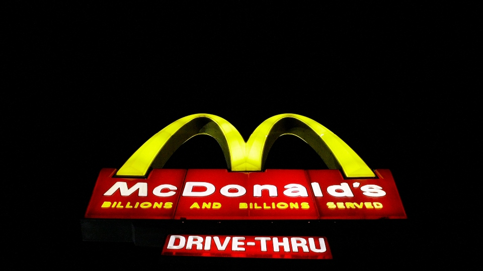 In this April 20, 2009, a McDonald's restaurant sign is illuminated in the Wrigleyville neighborhood of Chicago.
