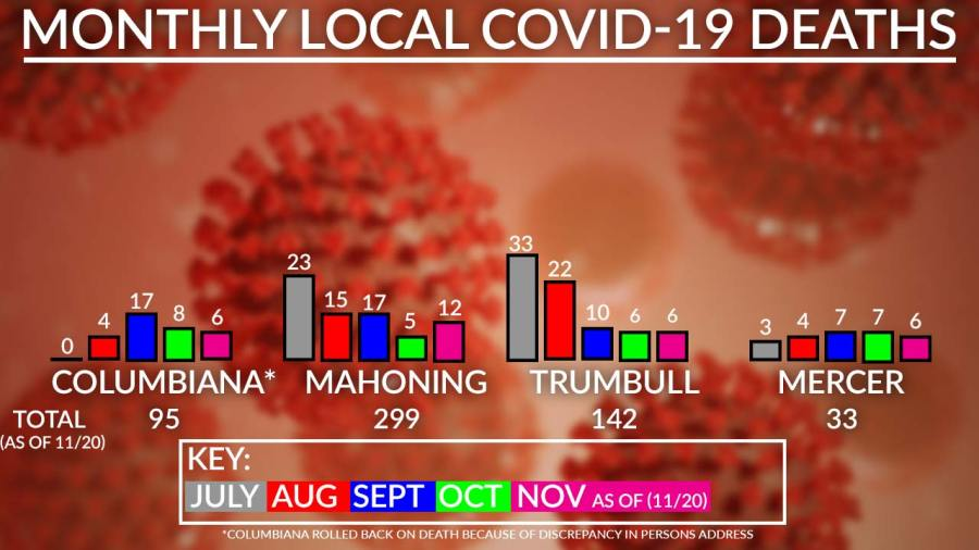 Monthly Covid-19 Deaths Chart, November 20