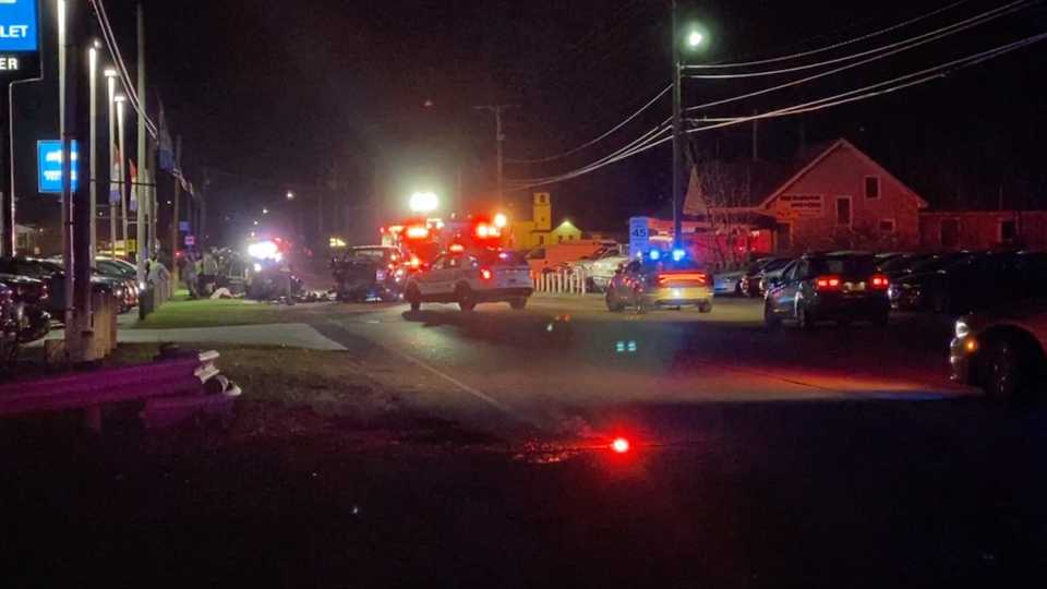 Ohio Highway Patrol have Mahoning Avenue closed off after an accident in North Jackson Saturday night