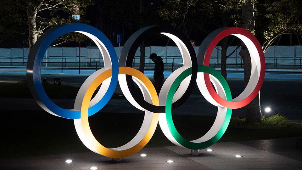 Olympic Rings Tokyo, Japan