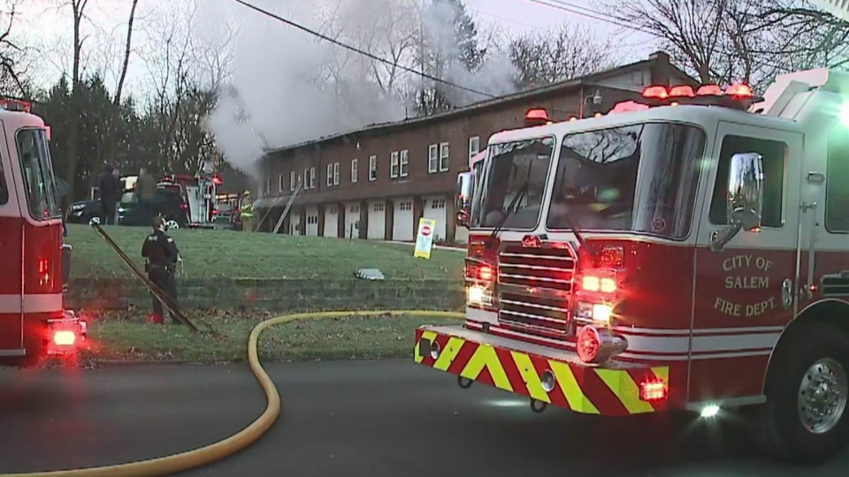 Salem apartment fire on Franklin Avenue