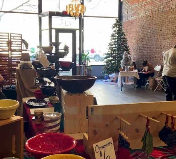 """The """"Steel Town Studios and Friends Christmas Market"""" was held at Concept studios."""
