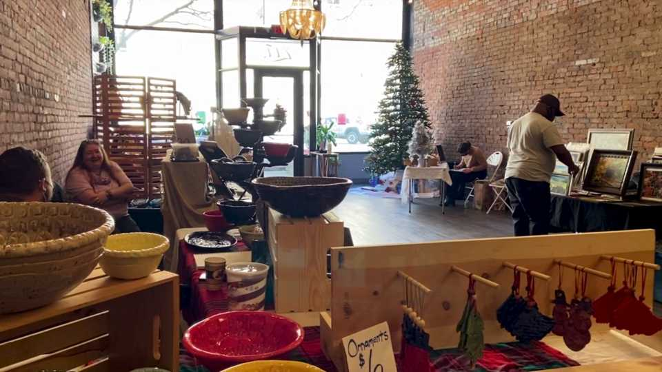 "The ""Steel Town Studios and Friends Christmas Market"" was held at Concept studios."
