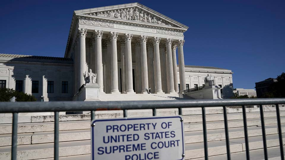 The Supreme Court in Washington on the day after the election, Wednesday, Nov. 4, 2020